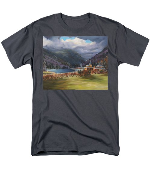 Last Train To Crawford Notch Depot Men's T-Shirt  (Regular Fit) by Nancy Griswold