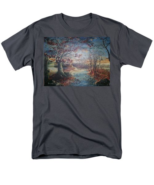 Men's T-Shirt  (Regular Fit) featuring the painting Late Fall by Peter Suhocke