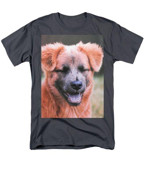 Laughing Dog Men's T-Shirt  (Regular Fit) by Belinda Lee