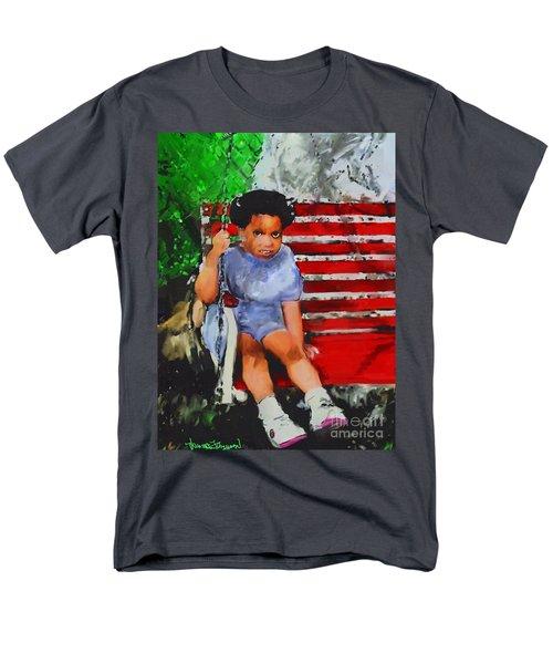 Men's T-Shirt  (Regular Fit) featuring the painting Lauren On The Swing by Vannetta Ferguson