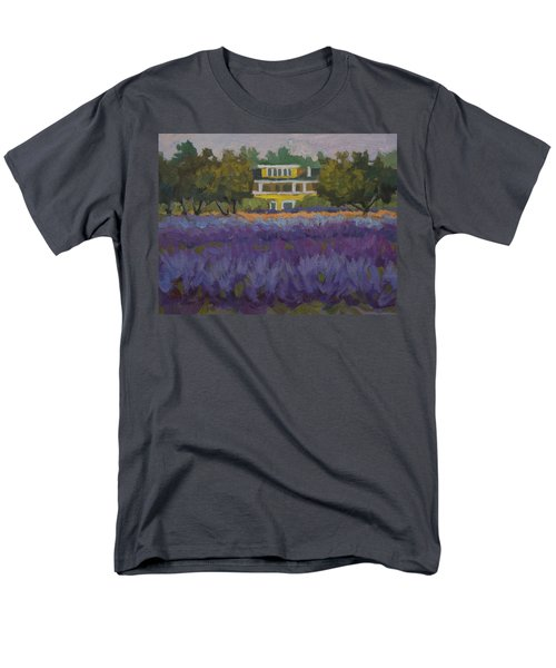 Lavender Farm On Vashon Island Men's T-Shirt  (Regular Fit) by Diane McClary