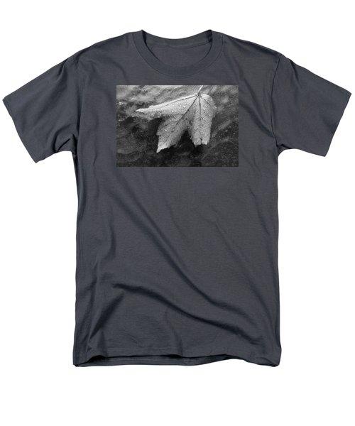 Leaf On Glass Men's T-Shirt  (Regular Fit) by John Schneider