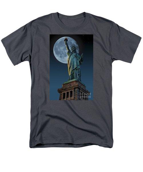 Liberty Moon Men's T-Shirt  (Regular Fit) by Steve Purnell