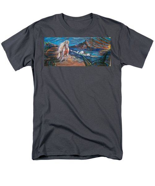 Men's T-Shirt  (Regular Fit) featuring the pastel Life After People by Peter Suhocke