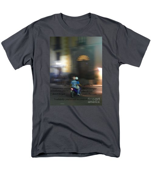 Life Zooms By  Men's T-Shirt  (Regular Fit) by Nora Boghossian