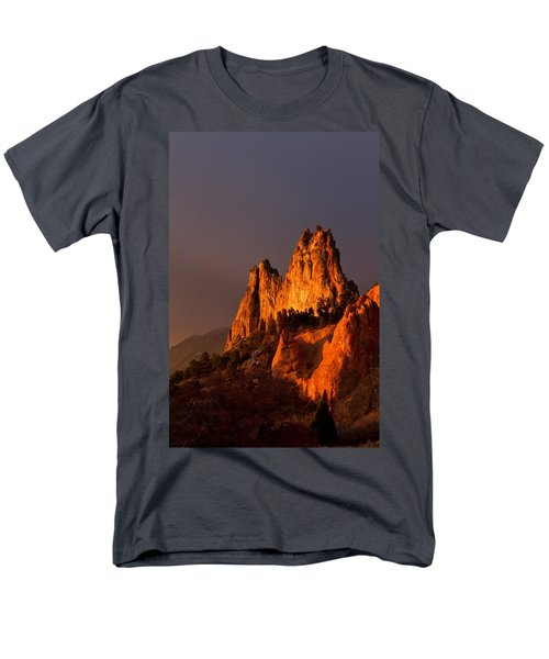 Men's T-Shirt  (Regular Fit) featuring the photograph Light On The Rocks by Ronda Kimbrow