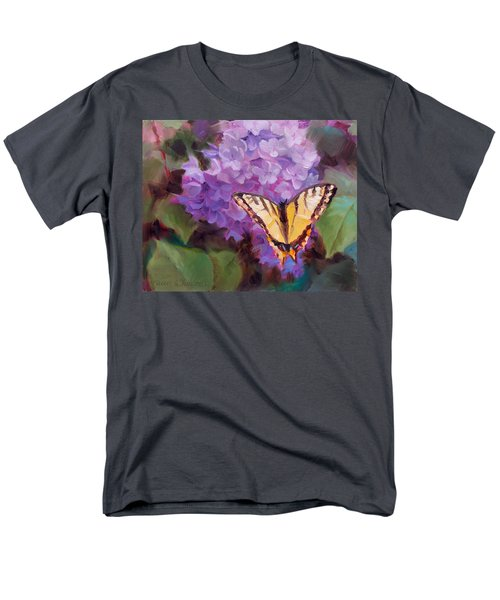 Lilacs And Swallowtail Butterfly Men's T-Shirt  (Regular Fit) by Karen Whitworth