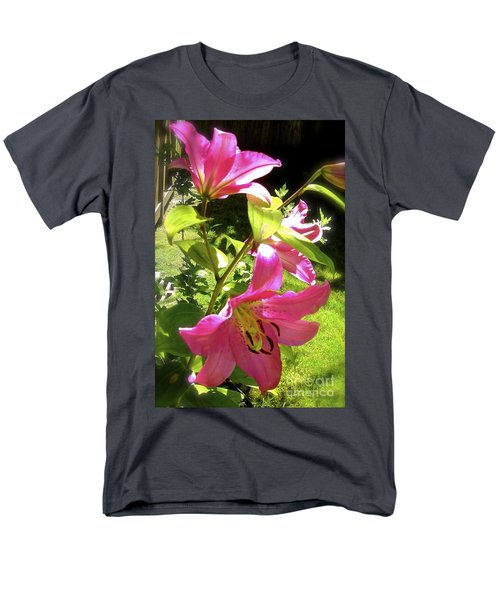 Lilies In The Garden Men's T-Shirt  (Regular Fit) by Sher Nasser