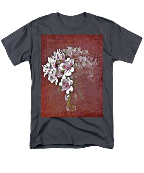 Men's T-Shirt  (Regular Fit) featuring the photograph Lilies In Vase by Diane Alexander