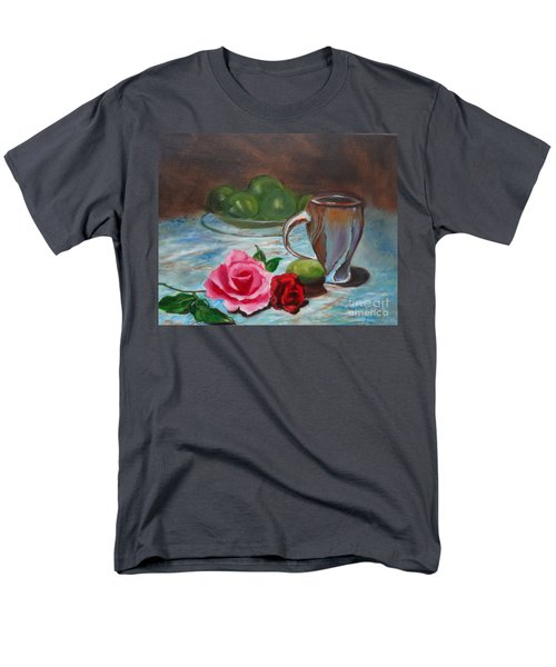 Men's T-Shirt  (Regular Fit) featuring the painting Limes And Roses by Jenny Lee
