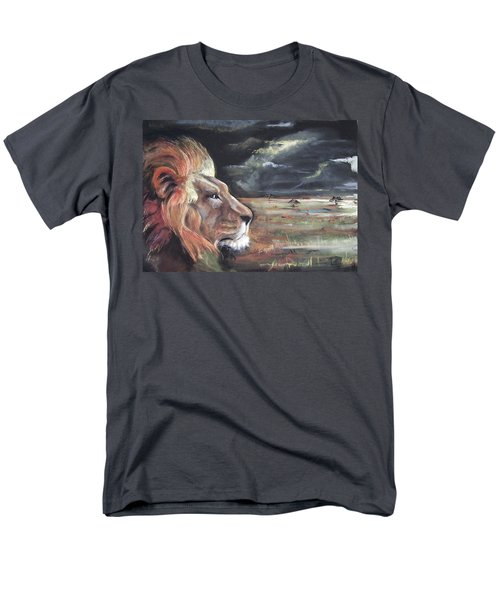 Men's T-Shirt  (Regular Fit) featuring the pastel Lions Domain by Peter Suhocke