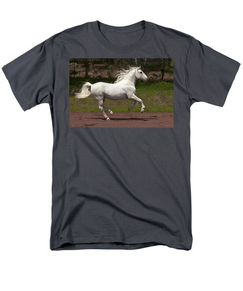 Men's T-Shirt  (Regular Fit) featuring the photograph Lipizzan At Liberty D5809 by Wes and Dotty Weber