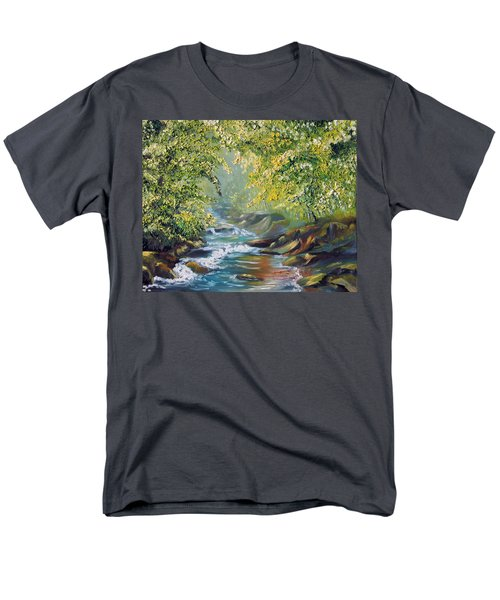 Men's T-Shirt  (Regular Fit) featuring the painting Living Water by Meaghan Troup