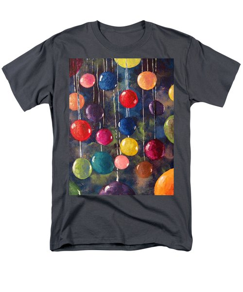 Men's T-Shirt  (Regular Fit) featuring the painting Lollipops Or Balloons? by Megan Walsh