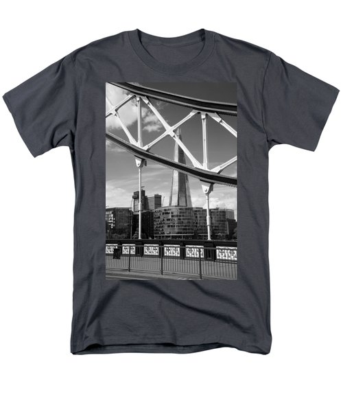 Men's T-Shirt  (Regular Fit) featuring the photograph London Bridge With The Shard by Chevy Fleet