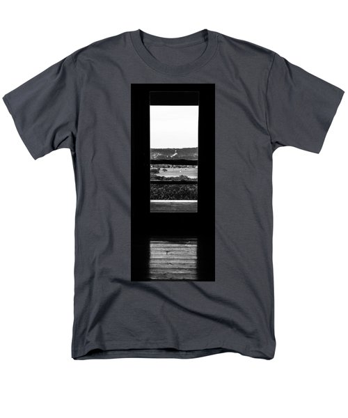 Men's T-Shirt  (Regular Fit) featuring the photograph Looking Out A Country Door. by Darryl Dalton
