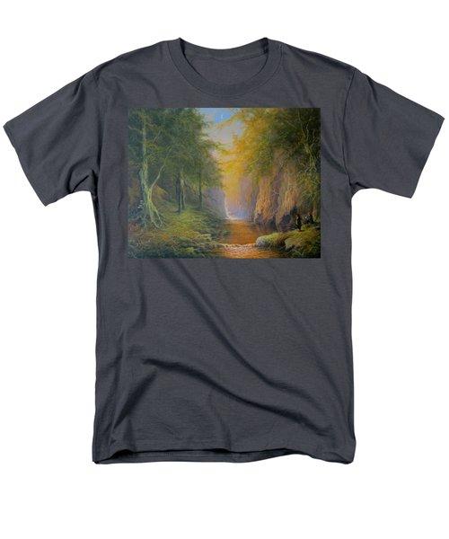 Lord Of The Rings Fangorn Treebeard Merry And Pippin Men's T-Shirt  (Regular Fit) by Joe  Gilronan