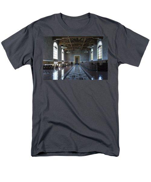 Los Angeles Union Station - Custom Men's T-Shirt  (Regular Fit) by Belinda Greb