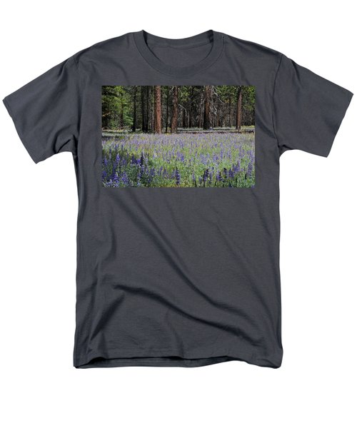 Men's T-Shirt  (Regular Fit) featuring the photograph Lupines In Yosemite Valley by Lynn Bauer