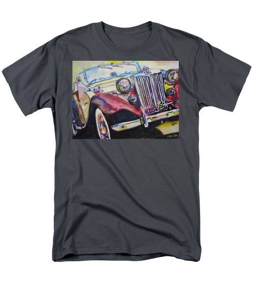 Men's T-Shirt  (Regular Fit) featuring the painting M G Car  by Anna Ruzsan