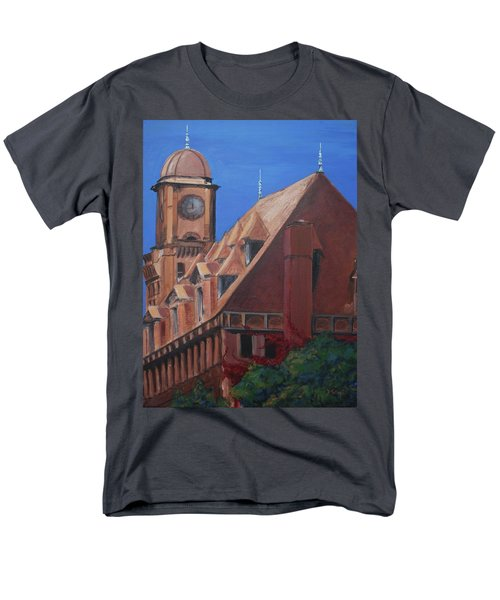 Men's T-Shirt  (Regular Fit) featuring the painting Main Street Station by Donna Tuten