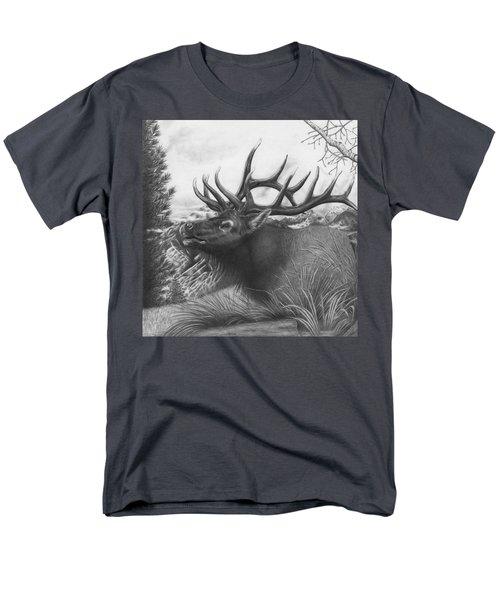 Majestic Bull Elk Men's T-Shirt  (Regular Fit)
