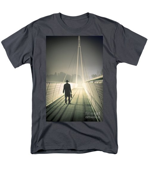 Men's T-Shirt  (Regular Fit) featuring the photograph Man With Case On Bridge by Lee Avison
