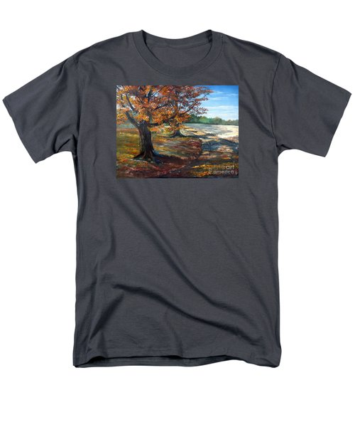 Men's T-Shirt  (Regular Fit) featuring the painting Maple Lane by Lee Piper