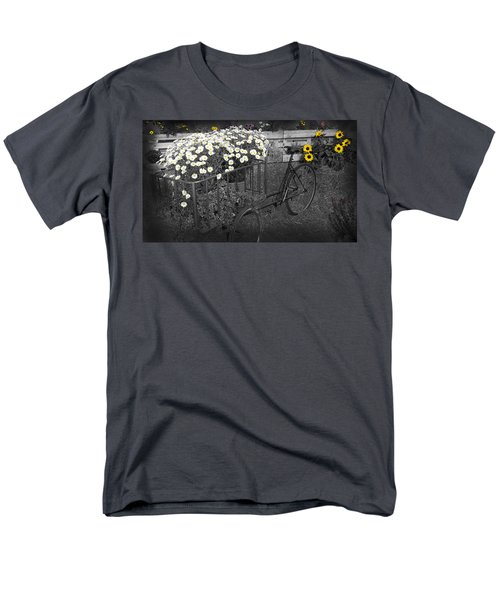 Marguerites And Bicycle Men's T-Shirt  (Regular Fit) by Gina Dsgn