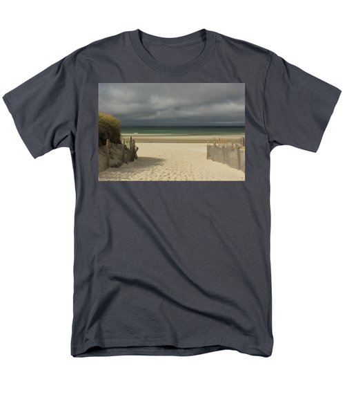 Mayflower Beach Storm Men's T-Shirt  (Regular Fit) by Amazing Jules