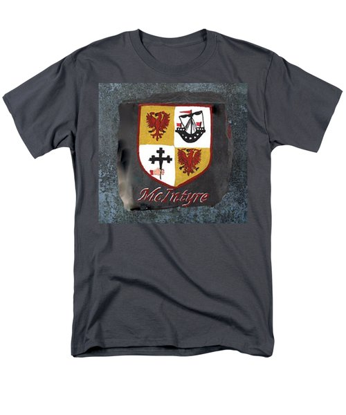 Men's T-Shirt  (Regular Fit) featuring the painting Mcintyre Coat Of Arms by Barbara McDevitt
