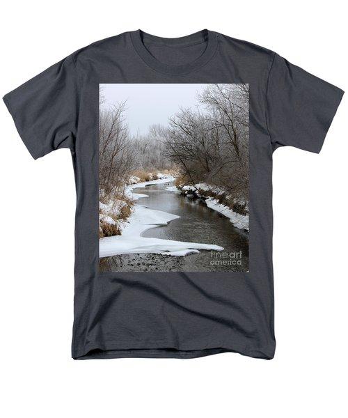 Meandering Geese Men's T-Shirt  (Regular Fit) by Debbie Hart