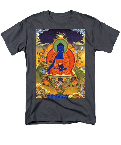 Medicine Buddha Men's T-Shirt  (Regular Fit) by Lanjee Chee