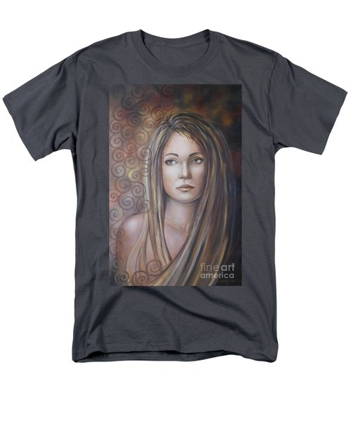 Men's T-Shirt  (Regular Fit) featuring the painting Melancholy 080808 by Selena Boron