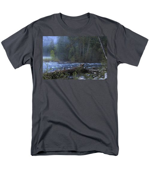 Merced River Men's T-Shirt  (Regular Fit) by Duncan Selby