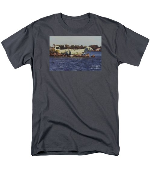 Merritt Island River Dragon Men's T-Shirt  (Regular Fit) by Bradford Martin