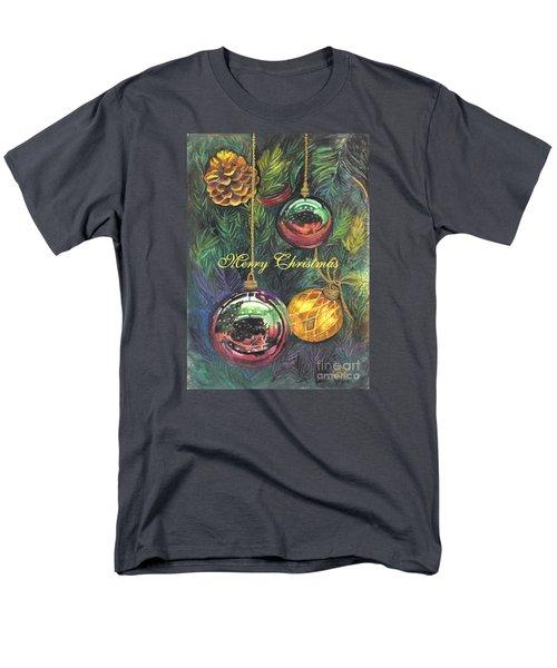 Merry Christmas Wishes Men's T-Shirt  (Regular Fit) by Carol Wisniewski