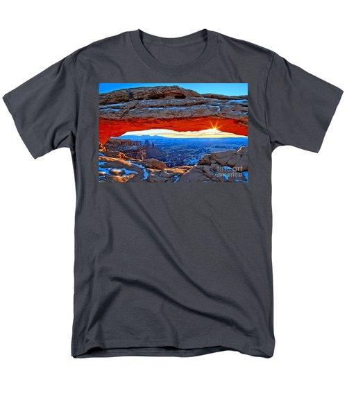 Mesa Arch Sunrise Men's T-Shirt  (Regular Fit) by Adam Jewell