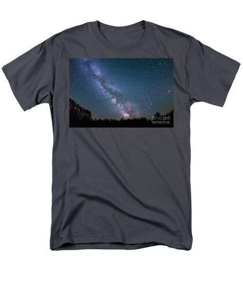 Meteor Milky Way  Men's T-Shirt  (Regular Fit) by Michael Ver Sprill