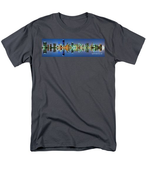 Miami Skyline Panorama Men's T-Shirt  (Regular Fit) by Carsten Reisinger