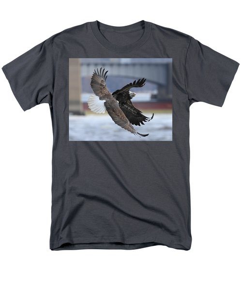 Men's T-Shirt  (Regular Fit) featuring the photograph Mid Air Fight by Coby Cooper