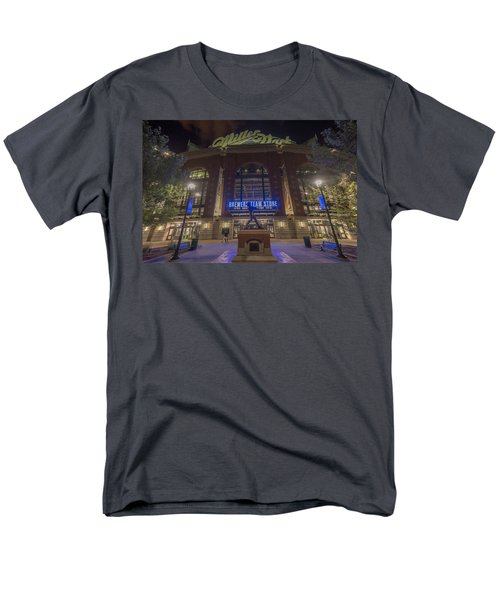 Milwaukee Brewers Miller Park 2 Men's T-Shirt  (Regular Fit) by David Haskett