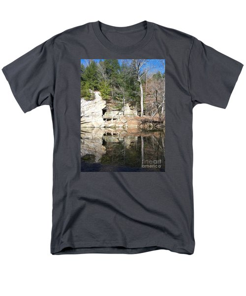 Men's T-Shirt  (Regular Fit) featuring the photograph Sugar Creek Mirror by Pamela Clements