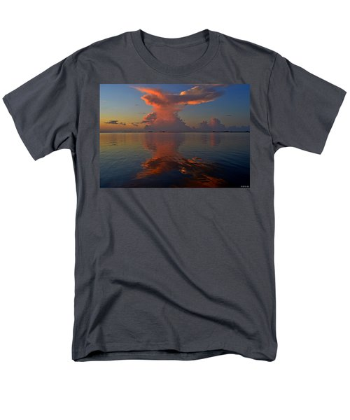 Mirrored Thunderstorm Over Navarre Beach At Sunrise On Sound Men's T-Shirt  (Regular Fit) by Jeff at JSJ Photography