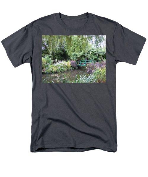 Monet's Japanese Bridge Men's T-Shirt  (Regular Fit) by Ellen Meakin