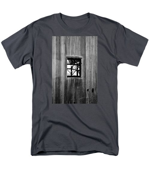 Men's T-Shirt  (Regular Fit) featuring the photograph Monroe Co. Michigan Barn Window by Daniel Thompson