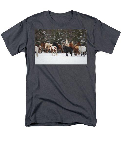 Montana Herd Men's T-Shirt  (Regular Fit) by Diane Bohna