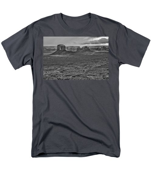 Men's T-Shirt  (Regular Fit) featuring the photograph Monument Valley 4 Bw by Ron White
