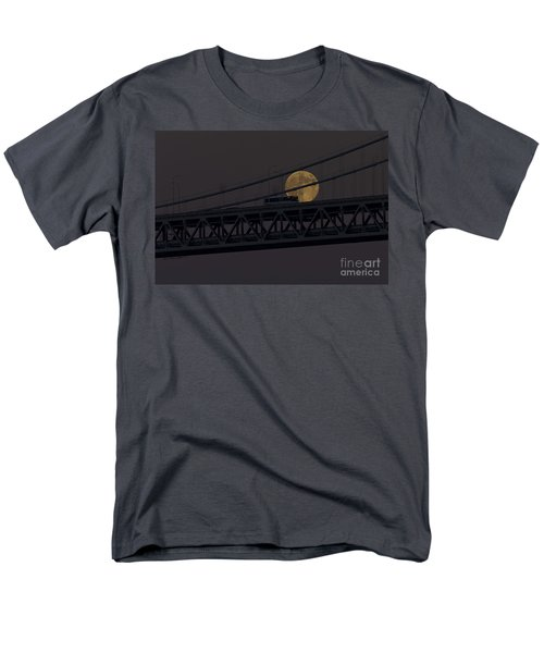 Men's T-Shirt  (Regular Fit) featuring the photograph Moon Bridge Bus by Kate Brown