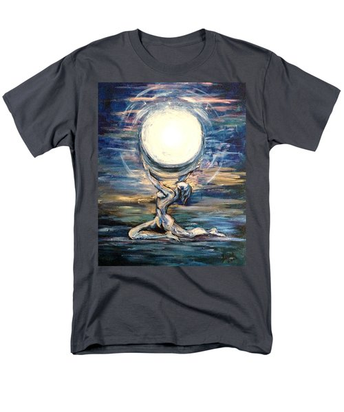 Moon Goddess Men's T-Shirt  (Regular Fit) by Karen  Ferrand Carroll